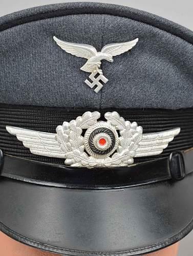 Luftwaffe black piped (pioneer) visor