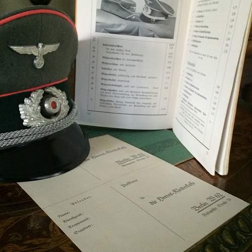 Heer Artillery NCO Visor Cap