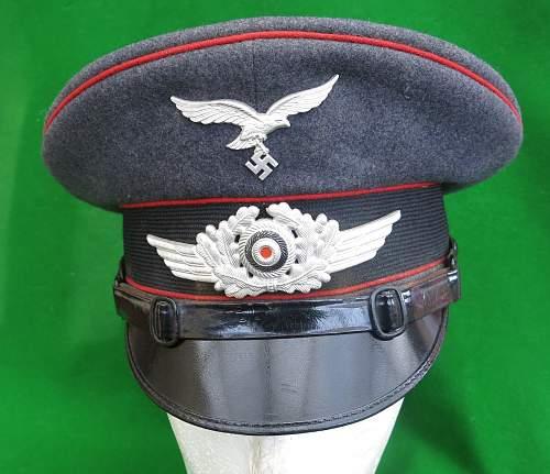 Click image for larger version.  Name:Luftwaffe Flak NCO Schirmmütze 001.jpg Views:49 Size:219.7 KB ID:879646