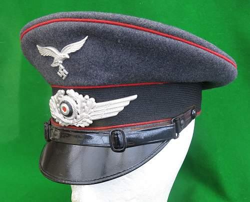 Click image for larger version.  Name:Luftwaffe Flak NCO Schirmmütze 002.jpg Views:40 Size:222.1 KB ID:879647