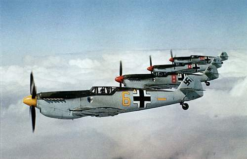 Click image for larger version.  Name:P129_four_Me109s_in_formation_flight.jpg Views:87 Size:87.3 KB ID:886928