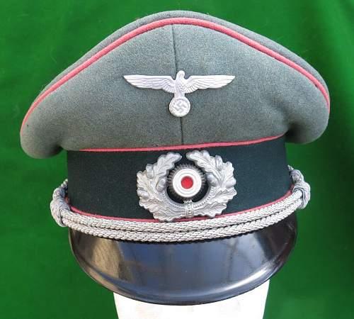 Heer Panzer officer visor cap by HPC