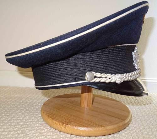 Marinebund visor cap