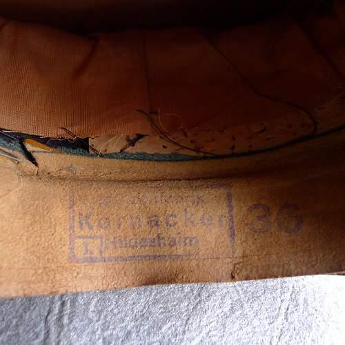 Kornacker Infanterie NCO Schirmutze sweatband stamps?