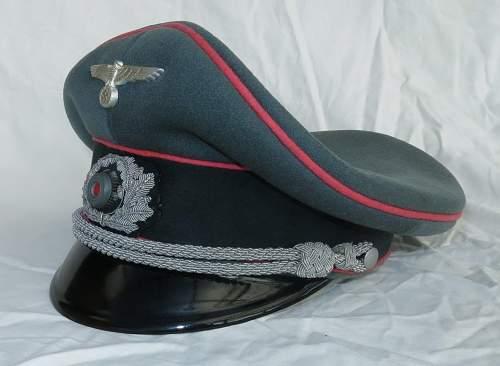 Heer Panzer officer visor cap by Erel