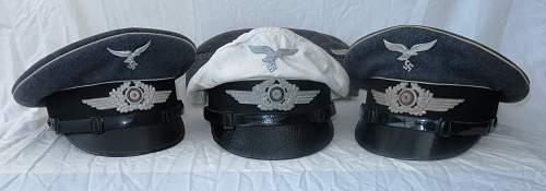 Luftwaffe Hermann Goring (RGG) EM visor by G A Hoffmann