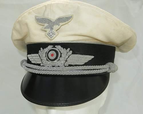 Click image for larger version.  Name:CW Luftwaffe Officer white top visor cap 006.jpg Views:37 Size:209.9 KB ID:915878