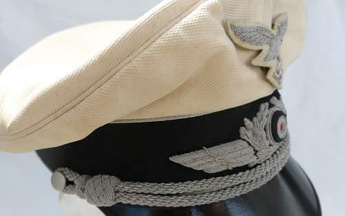 Click image for larger version.  Name:CW Luftwaffe Officer white top visor cap 012.jpg Views:34 Size:216.0 KB ID:915883