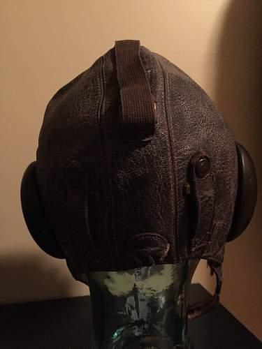 Luftwaffe winter flight cap and goggles