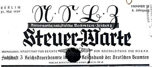 Click image for larger version.  Name:1 2. Reichstagung des RDB Reichsbund der Deutschen Beamten - Frankfurt am Main 8-14. Mai 1939.jpg Views:42 Size:238.5 KB ID:924795
