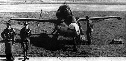 Click image for larger version.  Name:Werner Zober Karl Emil Demuth Leck May 1945 Heinkel He 162 JG 1 Jagdgeschwader.jpg Views:51 Size:130.2 KB ID:946192