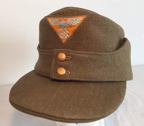 SA generals M43 cap