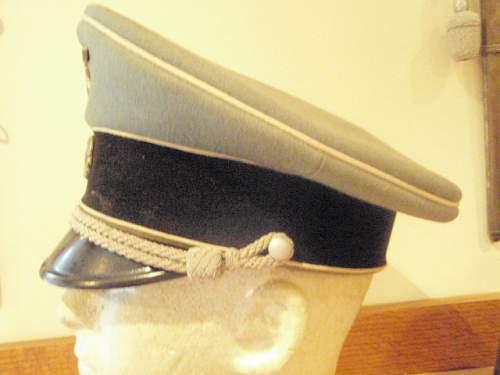Private Purchase S S Officer's Visor Cap