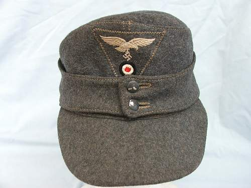 Luftwaffe m43 cap original?