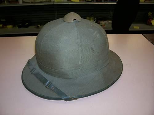First pattern sun helmet