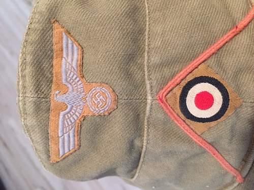 PinK piped Afrika Korps cap good???