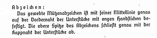 Click image for larger version.  Name:RAD-Dv.18 -3 from January 16, 1939 Bekl.Vorschrift f.den RAD Feldmütze Abzeichen auch Schim.jpg Views:15 Size:174.8 KB ID:976893