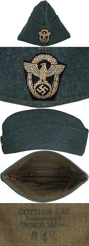 WW2 German Polizei NCO overseas hat for review