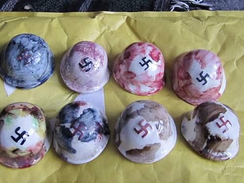 German Pottery Helmets