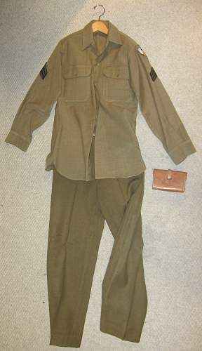 Small US Army Uniform Collection