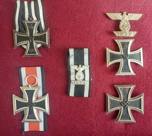 Wiederholungsspange Eisernes Kreuz Klasse 1 und 2
