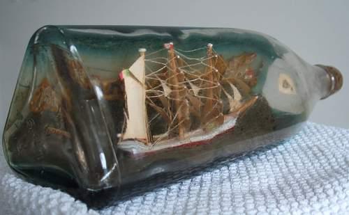Interesting POW Ship in a Bottle