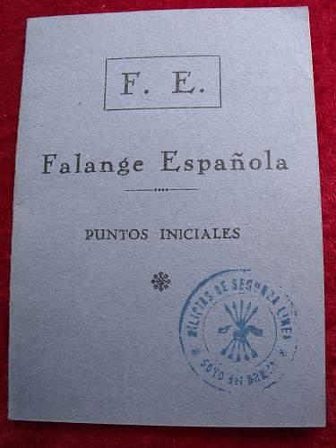 Spanish Civil War / Blue Division Volunteer Collection