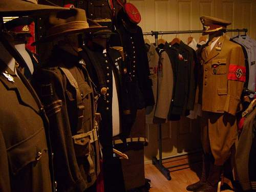Some of my uniform collection on mannequins