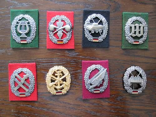 My little Bundeswehr badge collection