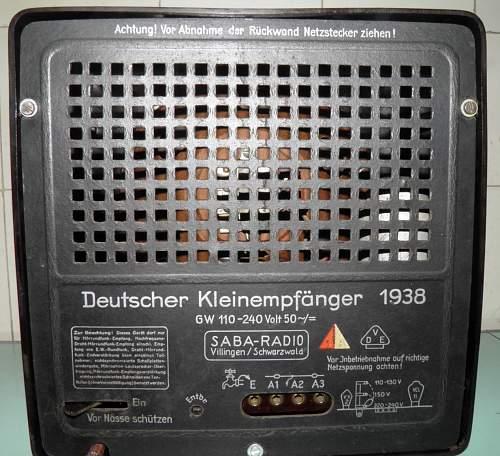 Saba Deutscher Kleinempfanger