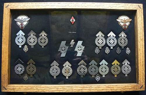 My collection of Hitler Jugend und Deutsches Jungvolk achievement awards.
