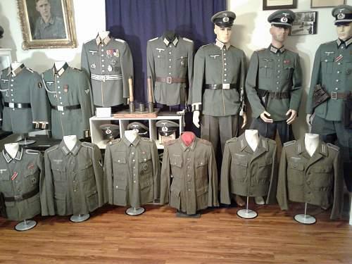 Row of Heer Feldblusen