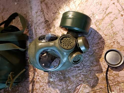 Canadian army issued gas masks