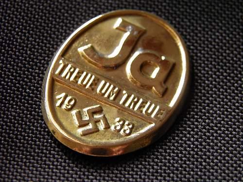 November 1933 German parliamentary election badge