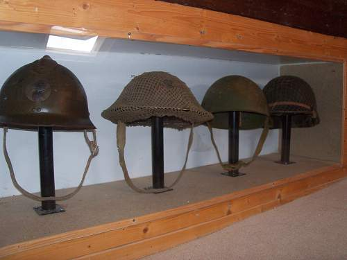 my very small allied helmet collection
