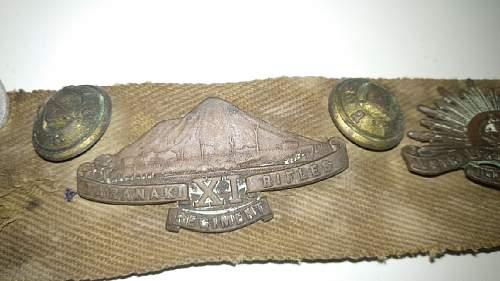 WW2 Australian/New Zealand RAAF badges on a belt!