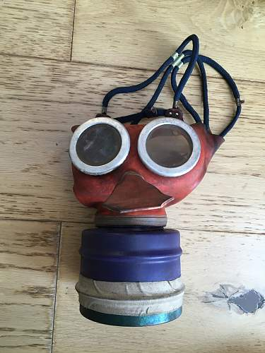 Black 'Mickey Mouse' Gas Mask