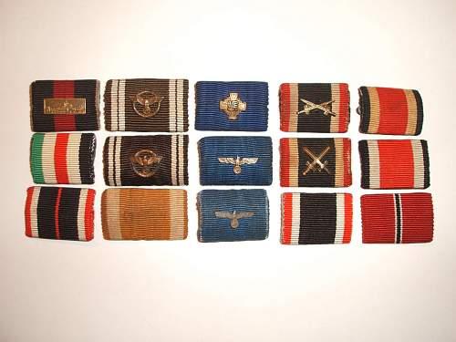My Ribbon bars.