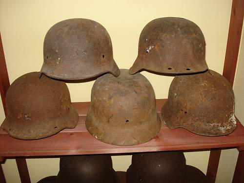 Small German steel helmet collection