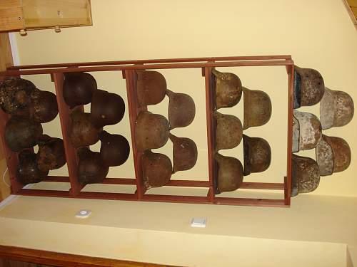 Small German steel helmet collection