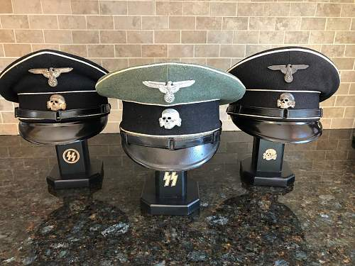 Could anyone help me please as to presenting a Wehrmacht cap on a hat stand?