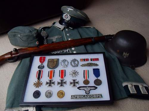 My German medal display