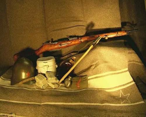My WW2 Russian items- not many