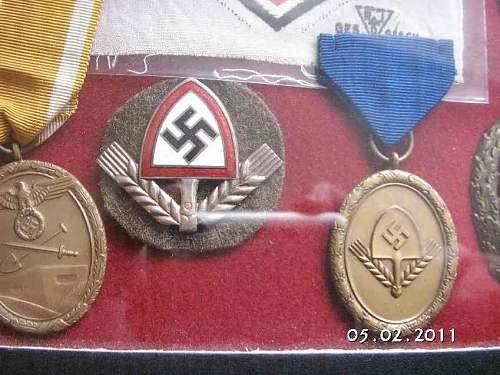 Mutterkreuz,  RAD items and EKII display