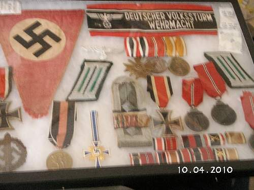 Mutterkreuz,  RAD items and EKII display