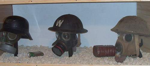 my helmet /gas mask collection