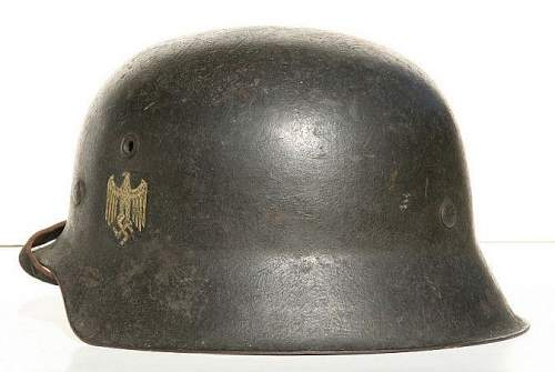 Click image for larger version.  Name:007b WWII-German-M42-ET64-Army-Helmet b.jpg Views:228 Size:53.7 KB ID:185638