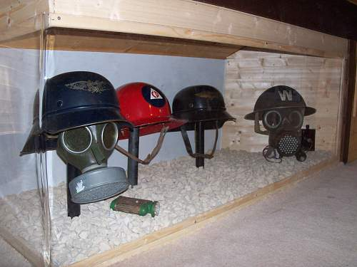 my small civil defence headgear collection