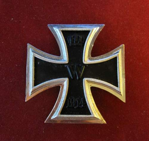 Click image for larger version.  Name:055 Iron  Cross 1st class 1914.jpg Views:252 Size:53.0 KB ID:195637