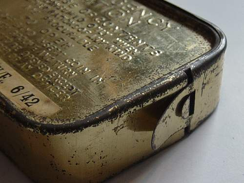 Click image for larger version.  Name:Emergency ration tin seal..jpg Views:138 Size:149.2 KB ID:200581